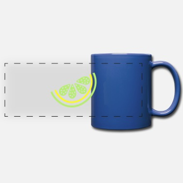 Citrus Fruits piece of lime citrus fruit - Full Color Panoramic Mug