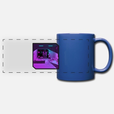 Outrun Style Anime girl retrowave synthwave outrun aesthetics - Full Color Panoramic Mug