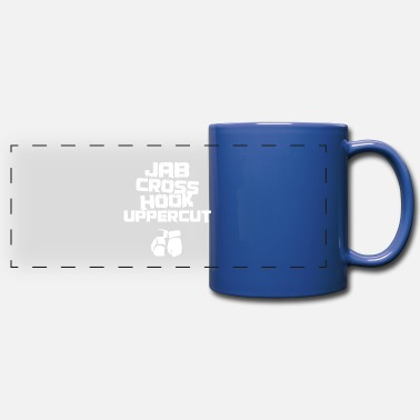 Uppercut Jab Cross Hook Uppercut for Boxing Fans & Boxers - Full Color Panoramic Mug