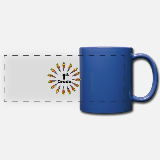 Gift Idea Mugs & Drinkware - 1st Grade - Full Color Panoramic Mug royal blue