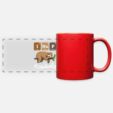 Turn Tables I Nap Periodically Sloth Animal Periodic Table - Full Color Panoramic Mug