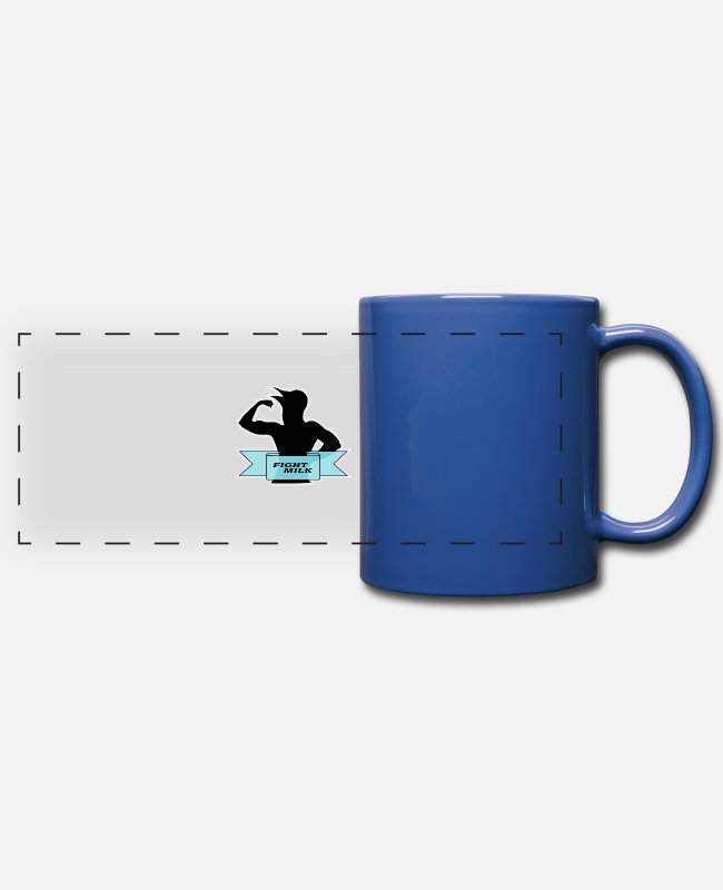 Party Mugs & Cups - Fight Milk - Full Color Panoramic Mug royal blue