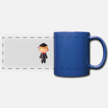 Gown Graduation Boy Wearing Gown - Full Color Panoramic Mug
