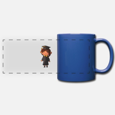 Gown Graduation Girl In Gown - Full Color Panoramic Mug