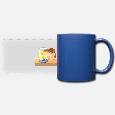 Look Through Kid Looking Through Lemonade - Full Color Panoramic Mug