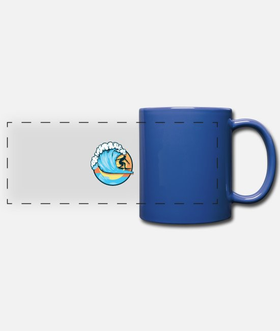 Water Mugs & Cups - fun - Full Color Panoramic Mug royal blue