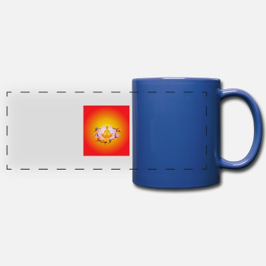 Planetcontest Yoga Relaxation - Full Color Panoramic Mug