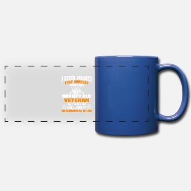 Grumpy I Would Be A Grumpy Old Veteran T Shirt - Full Color Panoramic Mug
