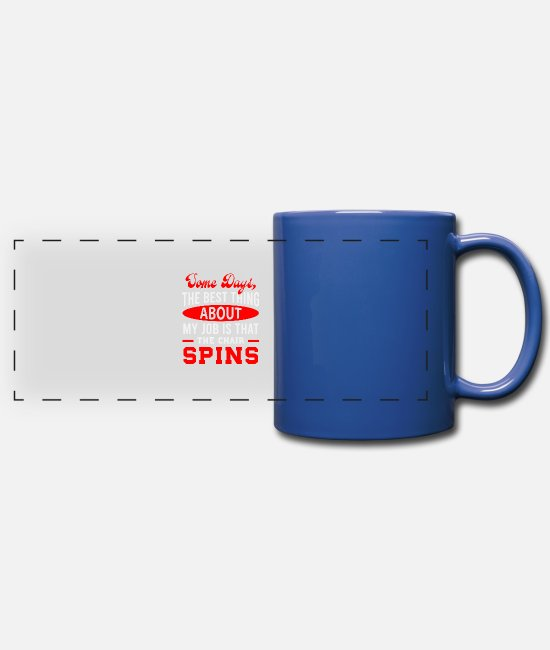 Birthday Mugs & Drinkware - Job - Full Color Panoramic Mug royal blue