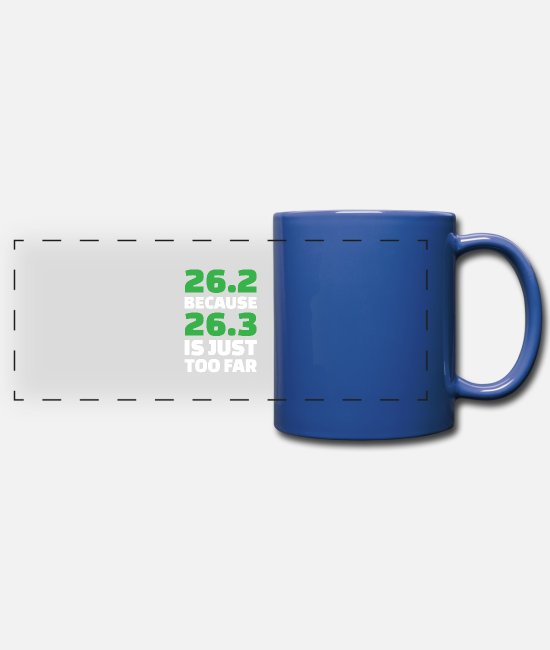 Runner Mugs & Cups - Runner Running Jogger Marathon Fitness Cardio Gift - Full Color Panoramic Mug royal blue