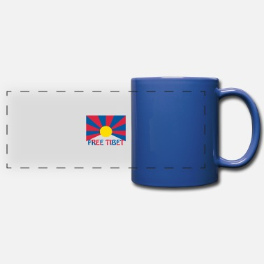 free tibet - Full Color Panoramic Mug
