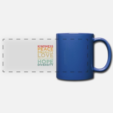 Human Righ Peace Love Diversity Inclusion Equality Human Righ - Full Color Panoramic Mug