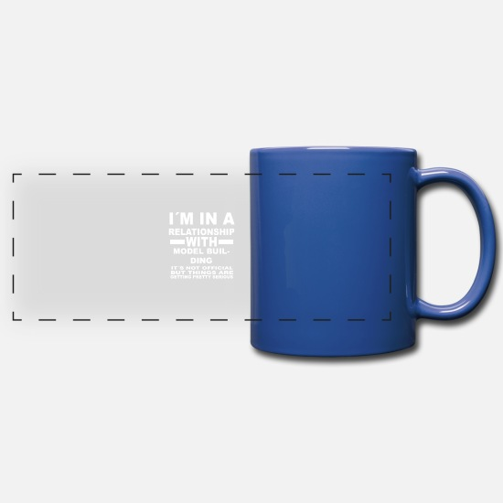 Mountains Mugs & Drinkware - relationship with MODEL BUILDING - Full Color Panoramic Mug royal blue