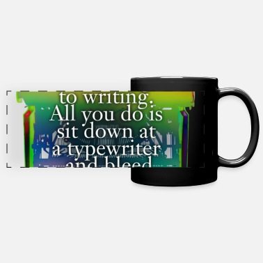Valentine Typewriter hemingway typewriter - Full Color Panoramic Mug