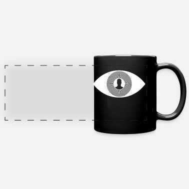 Eye Monitoring illuminati eye monitoring - Full Color Panoramic Mug