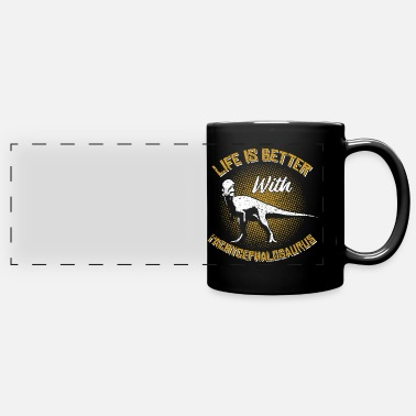 Paleontologist Life Is Better With A Pachycephalosaurus - Full Color Panoramic Mug