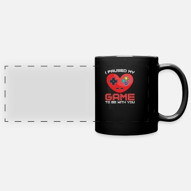 Pause Video Gaming Valentines Day Gift Paused Game - Full Color Panoramic Mug