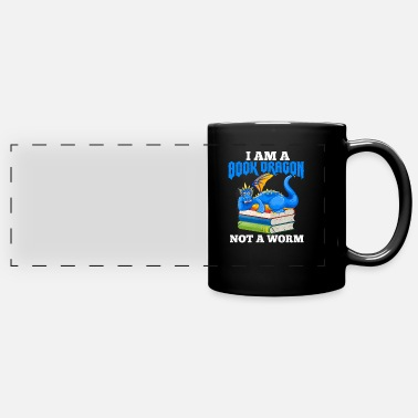 Am I Am A Book Dragon Not A Worm - Full Color Panoramic Mug