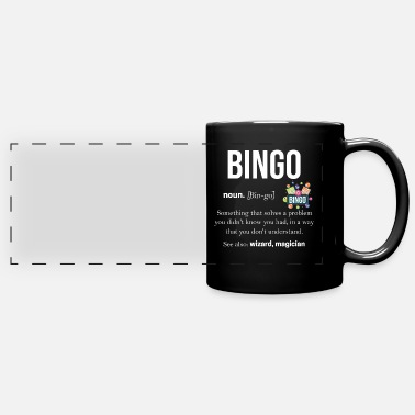 Lucky Number Bingo lucky number lotto gift grandpa grandma - Full Color Panoramic Mug