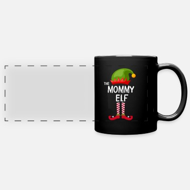 The mommy Elf Family Matching Group Christmas - Full Color Panoramic Mug