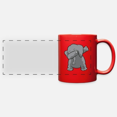 Girls Cute Dabbing Elephant Funny Dabbing Elephant - Full Color Panoramic Mug