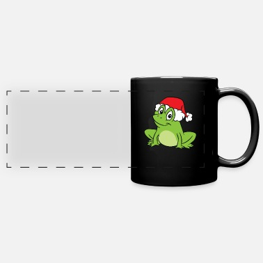 Amphibian Frog With Santa Hat Funny Frogs Merry Christmas - Full Color Panoramic Mug