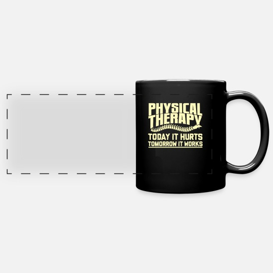 Physiotherapy Mugs & Drinkware - physical therapist - Full Color Panoramic Mug black