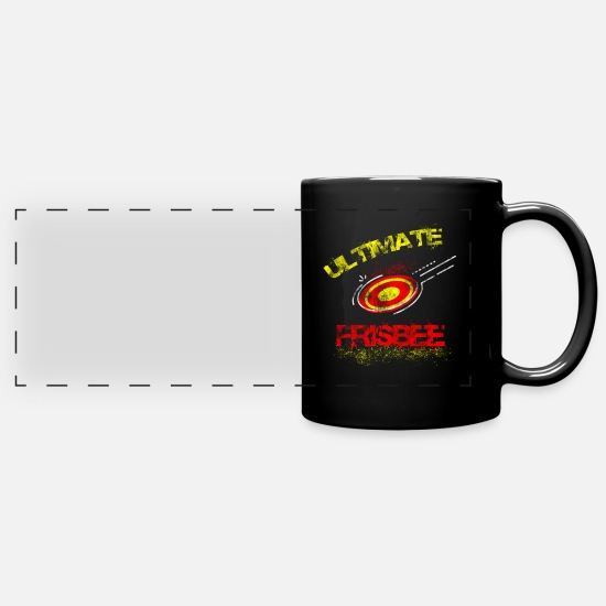 Game Mugs & Drinkware - Frisbee Ultimate Frisbee Sport Hobby - Full Color Panoramic Mug black