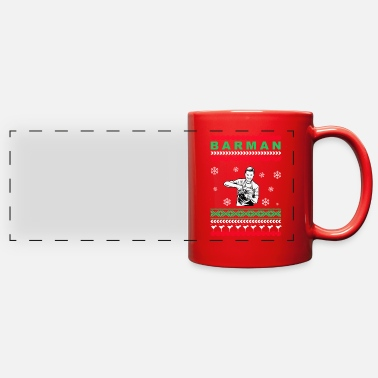Ugly Christmas Barman Knit Ugly Christmas Sweater Design Gift - Full Color Panoramic Mug