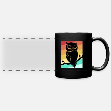 Nocturnal Bird Owl Night Nocturnal Bird Cuckoo Ornithology Forest - Full Color Panoramic Mug