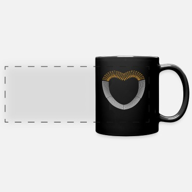 Bolt Action Ammo and Gun Lover Ammunition Heart - Full Color Panoramic Mug