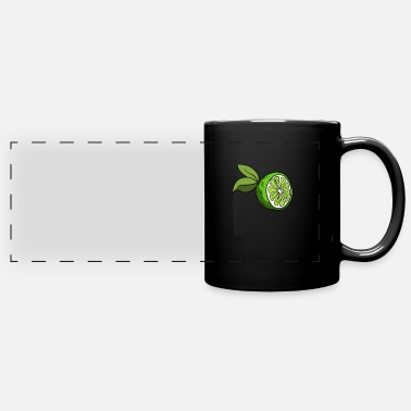 Citrus Fruits Lime Citrus Fruit Shape - Full Color Panoramic Mug
