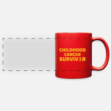 Childhood Childhood : Childhood Cancer Survivor - Full Color Panoramic Mug