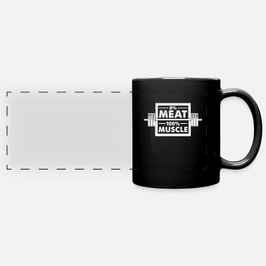 Muscle Meat 0 meat 100 muscle - Full Color Panoramic Mug