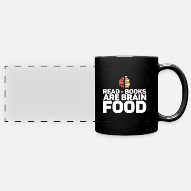 Fairy Read - Books Are Brain Food Gift for Bibliophile - Full Color Panoramic Mug