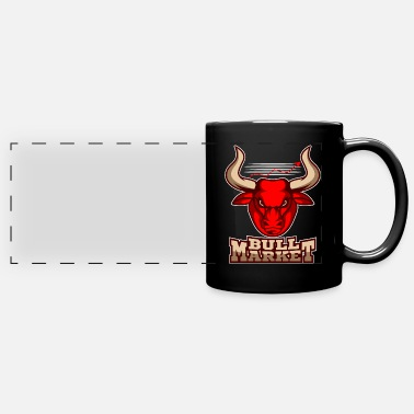 Bull Bull Market Stock Exchange Shares Investor Trader - Full Color Panoramic Mug
