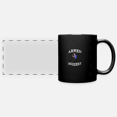 Stick Figure Armed Robbery 3 - Full Color Panoramic Mug
