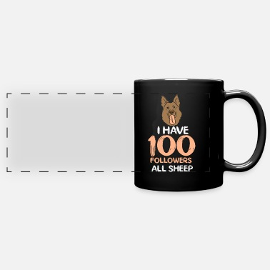 Australian Sheep Dog Australian Shepherd Sheep Dog Pasture - Full Color Panoramic Mug
