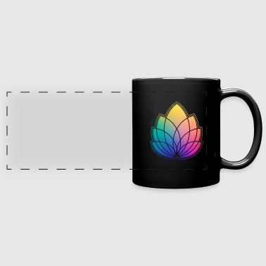 Colorful Abstract Yoga Geometry Blossom / Flower - Full Color Panoramic Mug