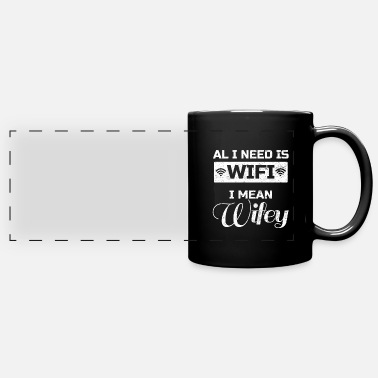Husband And Wife Quotes wedding husband wife wedding Quote funny awesome - Full Color Panoramic Mug