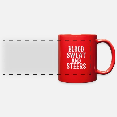 Goat LIVESTOCK SHOW: Blood Sweat And Steers - Full Color Panoramic Mug