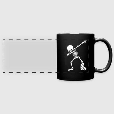 Dab dabbing skeleton plaster broken leg - Full Color Panoramic Mug