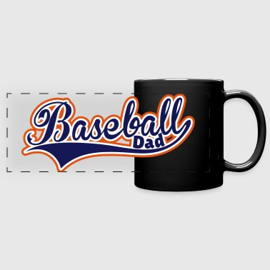 Baseball Dad Swoosh 3 Colors - Full Color Panoramic Mug