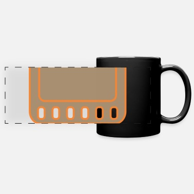 Cartoon Film Pixel Film - Full Color Panoramic Mug