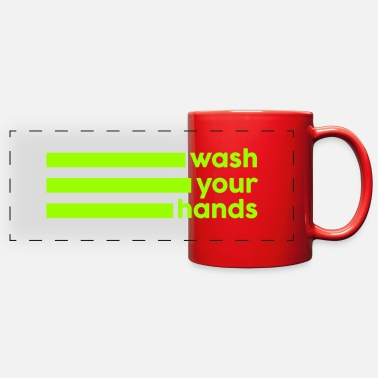 Slow Wash Your Hands – Pandemic 2020 - Full Color Panoramic Mug