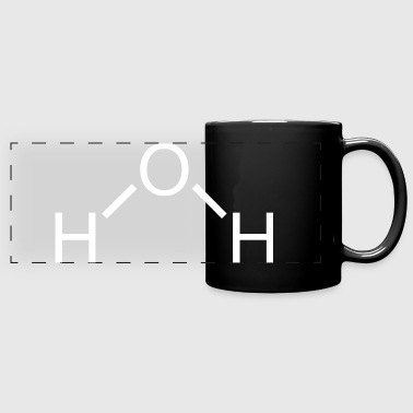 Water (H2O) Molecule - Full Color Panoramic Mug