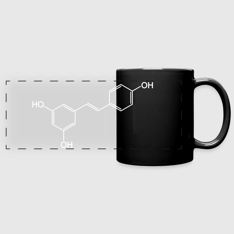 Resveratrol (Red Wine) Molecule - Full Color Panoramic Mug