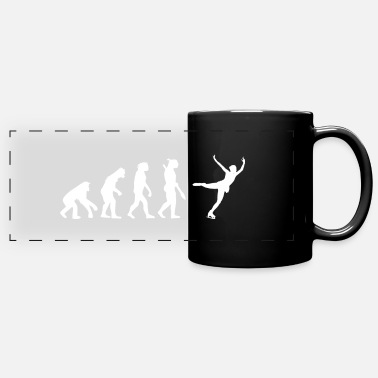 Darwin Figure Skating Ice Skating Evolution - Full Color Panoramic Mug