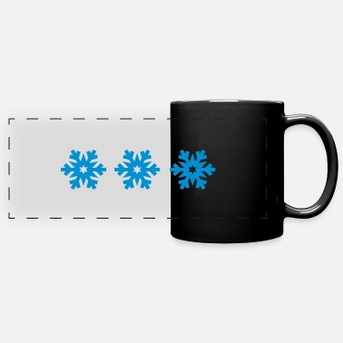 Snowflake snowflakes - Full Color Panoramic Mug