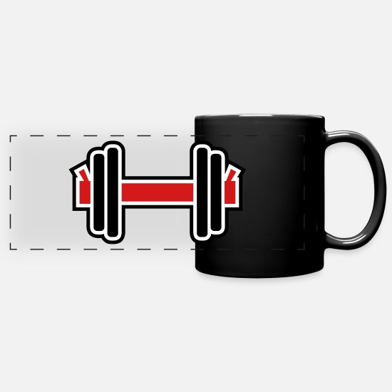 Sports Mugs & Drinkware - Dumbbell - Full Color Panoramic Mug black